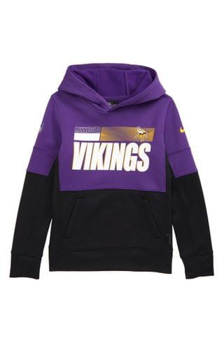 KIDS Nike Dri-FIT Therma NFL Logo Minnesota Vikings Hoodie (Big Boy)
