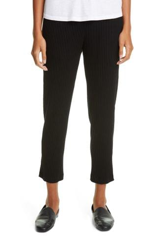 WOMEN Eileen Fisher Tapered Rib Ankle Pants