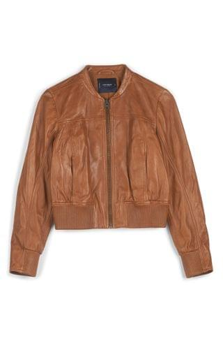 WOMEN Lucky Brand Faux Leather Zip Up Jacket