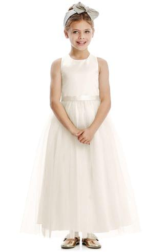 KIDSS Dessy Collection Tulle Skirt Flower Girl Dress (Toddler, Little Girl & Big Girl)