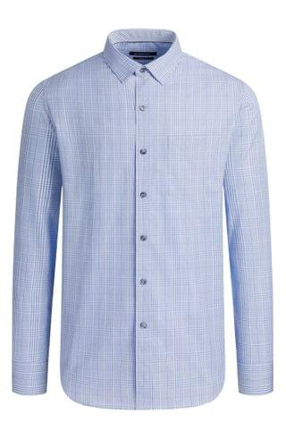 MEN Bugatchi Classic Fit Plaid Button-Up Shirt