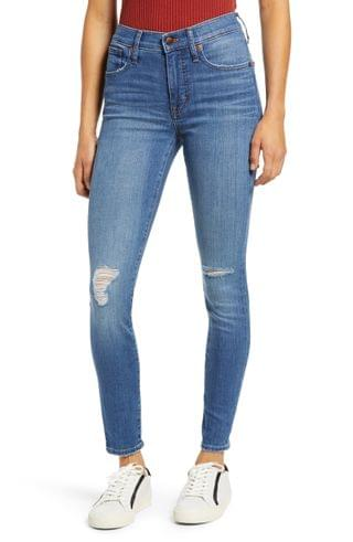 WOMEN Madewell High Waist Ankle Skinny Jeans (Wilcrest Wash)