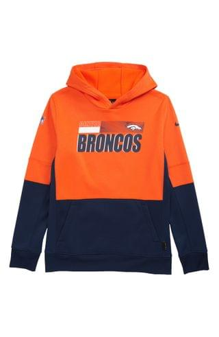 KIDS Nike Dri-FIT Therma NFL Logo Denver Broncos Hoodie (Big Boy)
