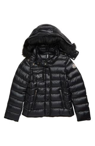 KIDSS Moncler New Armoise Hooded Down Jacket with Genuine Fox Fur Trim (Little Girl & Big Girl)