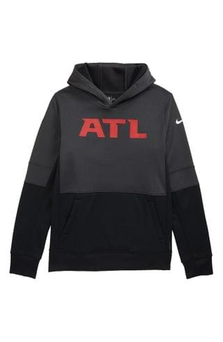 KIDS Nike Dri-FIT Therma NFL Logo Atlanta Falcons Hoodie (Big Boy)