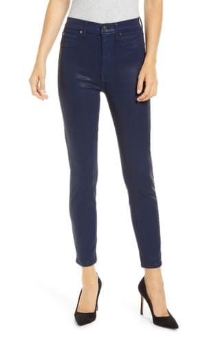 WOMEN Seven High Waist Coated Ankle Skinny Jeans