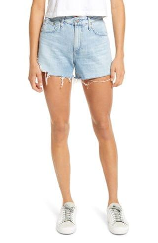 WOMEN AG Hailey High Waist Cutoff Denim Shorts (25 Years Directional)
