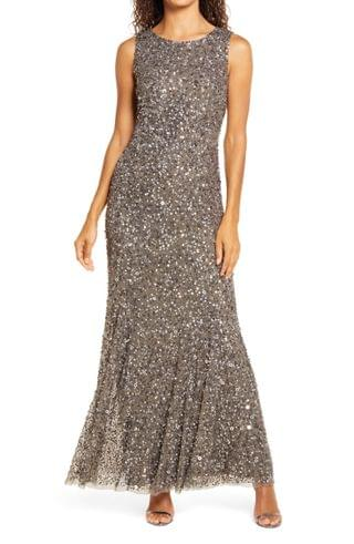 WOMEN Pisarro Nights Beaded A-Line Gown