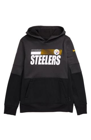 KIDS Nike Dri-FIT Therma NFL Logo Pittsburgh Steelers Hoodie (Big Boy)