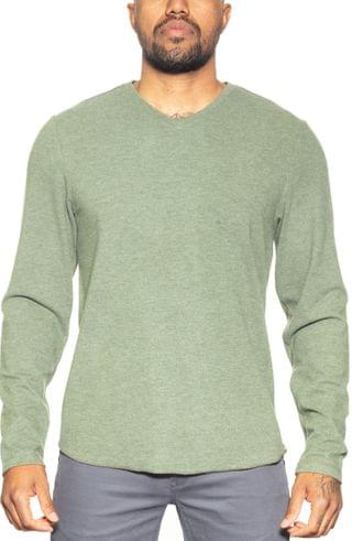 MEN Fundamental Coast Andy V-Neck Long Sleeve T-Shirt