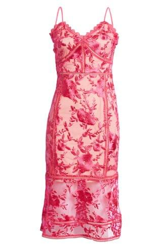 WOMEN Lulus Deeply Cherished Floral Embroidery Body-Con Dress
