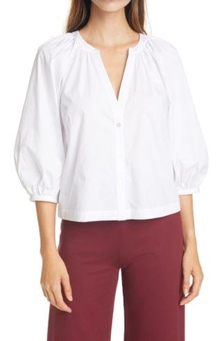 WOMEN STAUD New Dill Stretch Cotton Button-Up Blouse