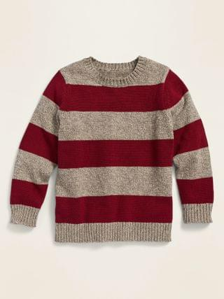 KIDS Rugby-Stripe Crew-Neck Sweater for Toddler Boys