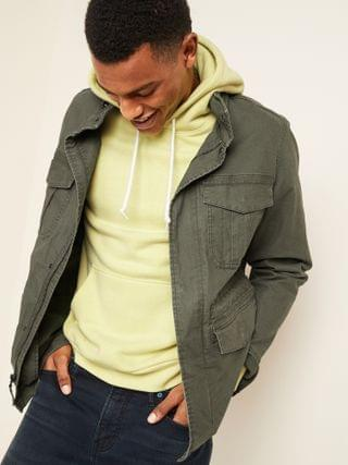 MEN Built-In Flex Stowaway-Hood Military Jacket for Men