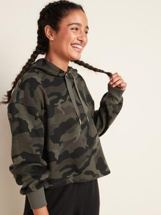 WOMEN Loose Cropped Pullover Hoodie for Women