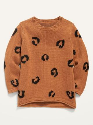 KIDS Printed Pullover Sweater for Toddler Girls