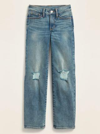 KIDS POPSUGAR x Old Navy High-Waisted O.G. Straight Distressed Light-Wash Jeans