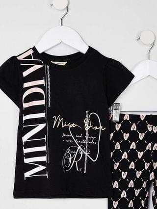 KIDS Mini girls black 'Mini diva' t-shirt outfit