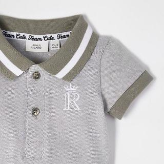 KIDS Baby grey polo bodysuit outfit