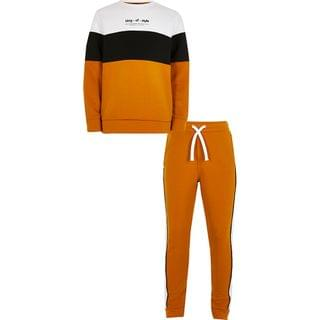 KIDS Boys yellow 'King of style' tracksuit