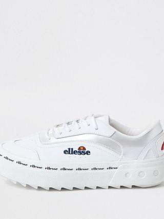 WOMEN White Ellesse Alzina Lace Up Trainer