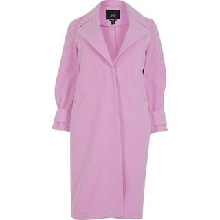 WOMEN Plus Pink Cuff Detail Coat