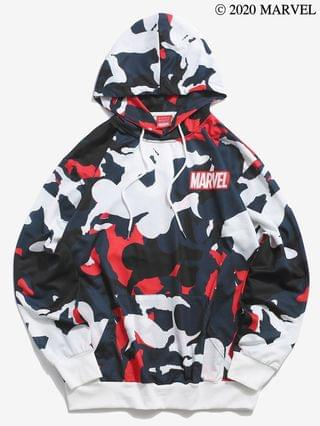 MEN Marvel Spider-Man Camo Drop Shoulder Hoodie