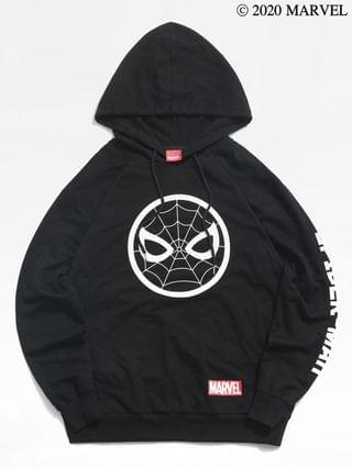 MEN Marvel Spider-Man Icon Letters Print Kangaroo Pocket Hoodie