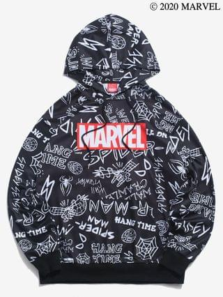 MEN Marvel Spider-Man Wed Slinger Graphic Hoodie