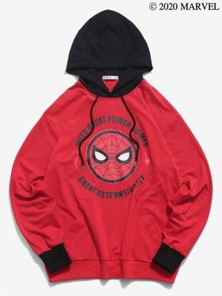 MEN Marvel Spider-Man Letter Graphic Hoodie