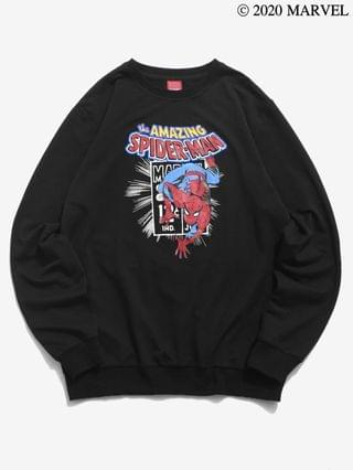 MEN Marvel Spider-Man Letter Printed Graphic Sweatshirt