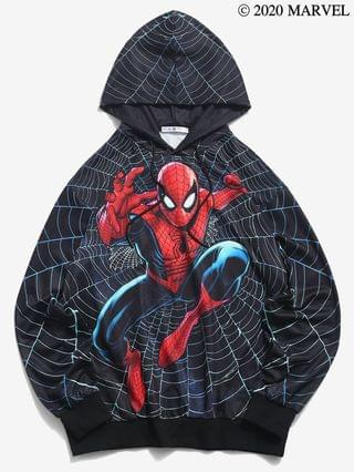 MEN Marvel Spider-Man Web Print Hoodie