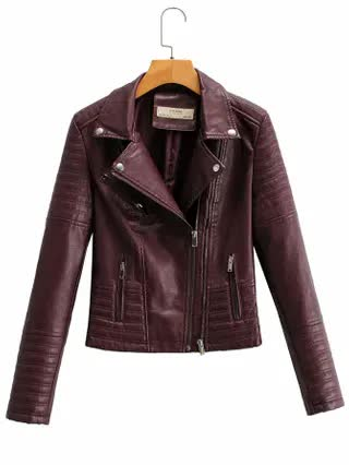 WOMEN Faux Leather Biker Jacket