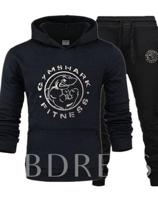 MEN Letter Casual Hoodie Print Fall Men's Outfit