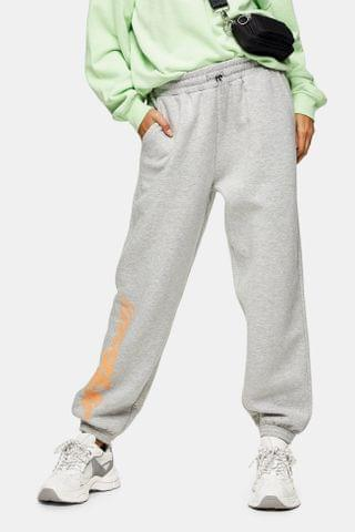 WOMEN Gray Slogan Sweatpants