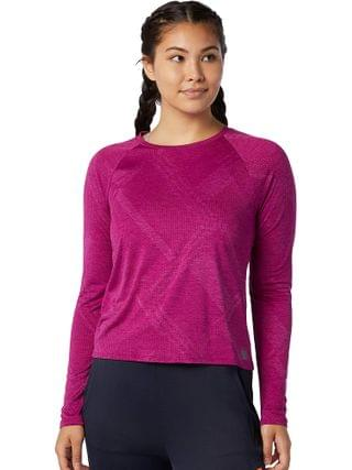 WOMEN New Balance - Q Speed Fuel Jacquard Long Sleeve