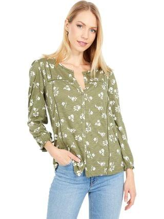 WOMEN Lucky Brand - Floral Printed Wrap Top
