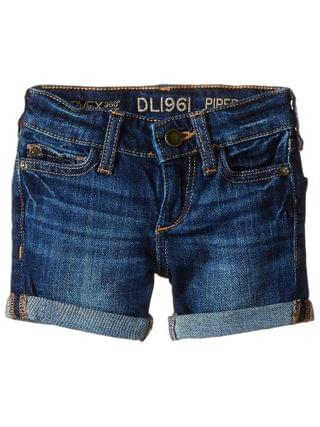 KIDS DL1961 Kids - Piper Unstitched Cuffed Jean Shorts (Toddler/Little Kids)