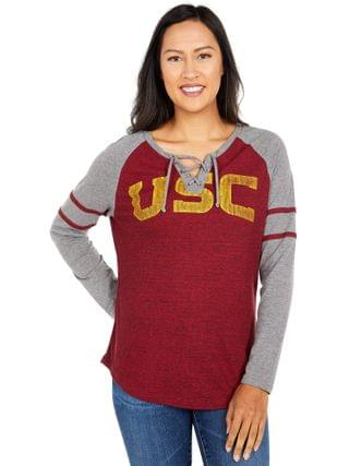 WOMEN 289c Apparel - USC Trojans Patrisse Long Sleeve Tee