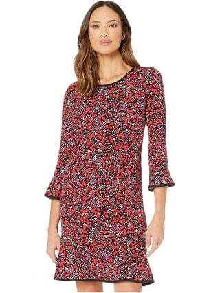 WOMEN MICHAEL Michael Kors - Woodland Leaf Flounce Dress