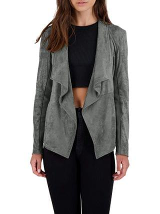 WOMEN BB Dakota - Wade Faux Suede Drape Jacket