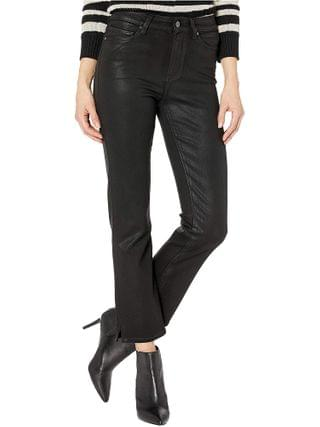 WOMEN Paige - Cindy Jeans w/ Outseam Slit in Black Fog Luxe Coating