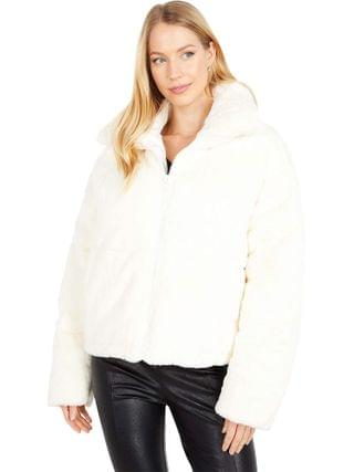 WOMEN APPARIS - Billie Zip Front Short Faux Fur Coat
