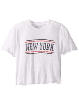 KIDS The Original Retro Brand Kids - Vintage Slub Cotton Raw Edge New York Tee (Big Kids)