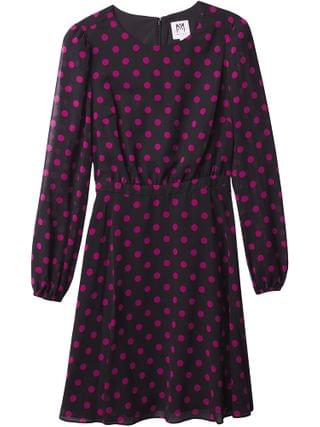 KIDS Milly Minis - Elma Polka Dot Dress (Big Kids)