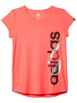 KIDS adidas Kids - Scoop Neck Poly Tee (Big Kids)