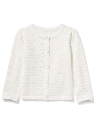 KIDS Janie and Jack - Pointelle Cardigan (Toddler/Little Kids/Big Kids)