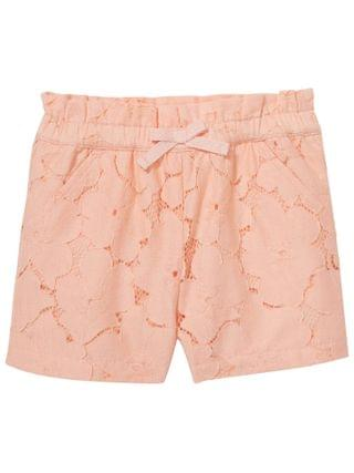 KIDS Janie and Jack - Peach Lace Shorts (Toddler/Little Kids/Big Kids)