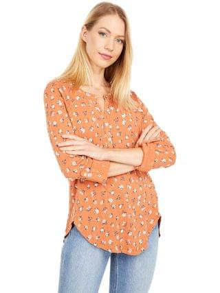 WOMEN Lucky Brand - Printed Pointelle Henley