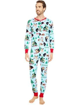 WOMEN Little Blue House by Hatley - Wild About Christmas Adult Union Suit One-Piece